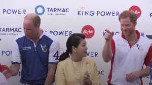 Duke of Cambridge beats the Duke of Sussex at polo [Video]