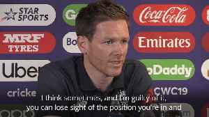 News video: Eoin Morgan: England players 'living the dream' ahead of World Cup semi-final