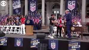 WEB EXTRA: World Cup Champs Get Keys To NYC [Video]