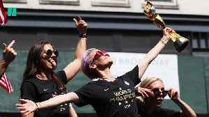 Women's National Soccer Team Ticker-Tape Parade In NYC [Video]