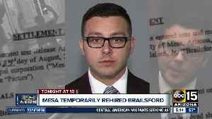 Brailsford temporarily rehired by Mesa PD [Video]