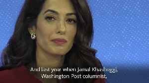 Amal Clooney: Trump making honest journalists more vulnerable to abuse [Video]