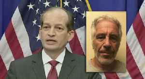 News video: Labor Secretary Alexander Acosta defends handling of Jeffrey Epstein case in 2008