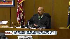 Judge declined to lock up suspect now accused in triple shooting [Video]