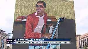 New mural of Stevie Wonder placed on Detroit's Music Hall [Video]