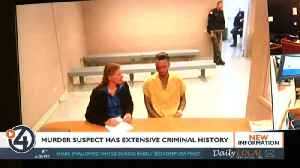 Murder suspect has extensive criminal history [Video]