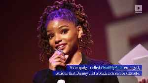Voice of Ariel in 'Little Mermaid' Defends Halle Bailey's Casting [Video]