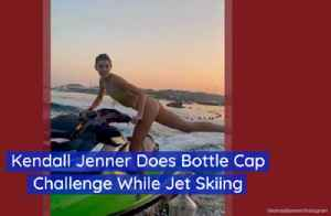 Kendall Jenner Tries The Bottle Cap Challenge [Video]