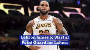 Lebron James On The Court For LA [Video]