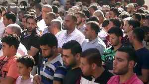 Funeral takes place of Palestinian militant killed 'by mistake' by Israeli fire in northern Gaza Strip [Video]