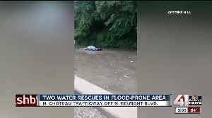 Crews conduct water rescues and put out fires after morning storm [Video]