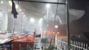 Ferocious Winds Pelt Seaside Village During Storm [Video]
