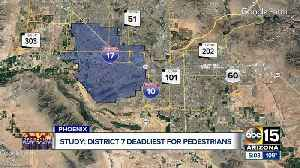 Which district in Arizona is the deadliest for pedestrians? [Video]