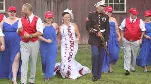 Michigan Couple`s MAGA-Themed Wedding Pays Tribute to President Trump [Video]