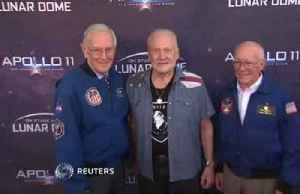 Moonwalker Buzz Aldrin, former NASA atronauts attend Apollo 11 live show in Pasadena [Video]
