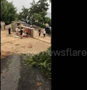 News video: UK tourist witnesses the aftermath of deadly storm in Greece