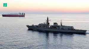 "News video: UK Warship ""Warns"" Iranian Vessels In The Gulf"