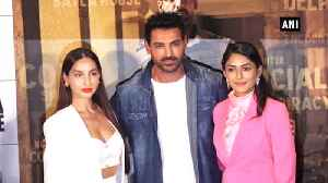 John Abraham, Nora Fatehi launch Batla House trailer, film to release on Aug 15 [Video]