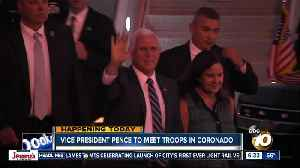 VP Pence meeting with troops at San Diego bases [Video]