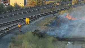 Sparks from Passing Train Start Brush Fire in Salt Lake City [Video]