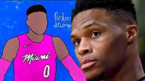 Russell Westbrook CAUGHT Liking Pic Of Himself In Heat Jersey, Quickly Deletes! [Video]