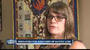 Survivor of suicide loss working to provide resources for others [Video]
