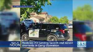 Officers Serving Warrants In San Joaquin, Stanislaus Counties In Large Operation Against Gang [Video]