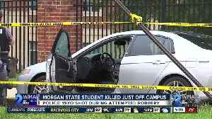 Morgan State student killed off campus on Thursday [Video]