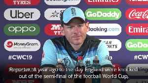 Eoin Morgan tells England fans not to get carried away ahead of World Cup final [Video]