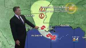 News video: Tropical Storm Barry Nears Louisiana Coast Bringing Heavy Rain