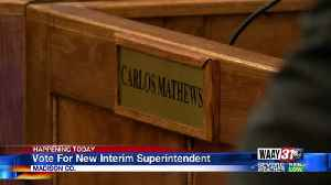 Madison Board of Education for new superintendent [Video]