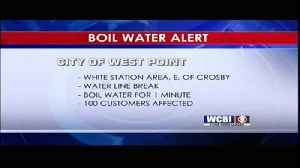 West Point Boil Water Notice - 7/11/19 [Video]