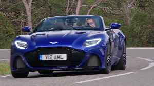 Aston Martin DBS Superleggera Volante in Zaffre Blue Driving Video [Video]