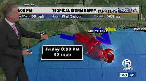 News video: Tropical Storm Barry forms in Gulf of Mexico, expected to strengthen into hurricane this weekend