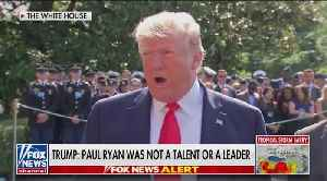 Trump slams Paul Ryan as 'not a talent' [Video]