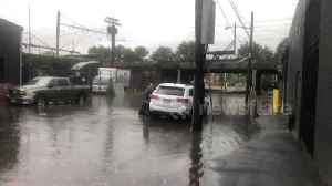 Cars abandoned in floodwater on New Jersey road after tornado rattles area [Video]