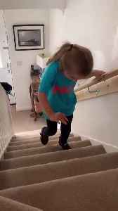 Little Girl with Cerebral Palsy Climbs Stairs for the First Time [Video]