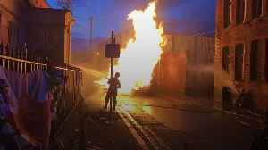 Bonfires lit to mark Eleventh Night in Northern Ireland [Video]