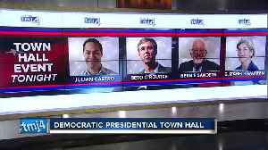 News video: Democratic presidential candidates hold town hall in Milwaukee