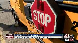 Test your skills driving a school bus at hiring fairs in Olathe today, next week [Video]