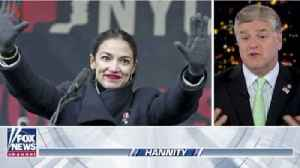 News video: Fox News' Sean Hannity Is Making An Unprecedented Offer to Congresswoman Alexandria Ocasio-Cortez