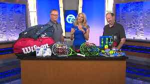 Local tennis shop to give away kids racquets [Video]