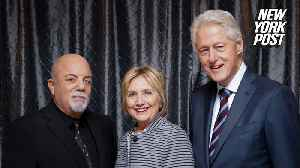 Billy Joel dedicates song to Bill and Hillary Clinton [Video]