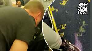 Vomit littered the aisle in this Ryanair flight from hell [Video]