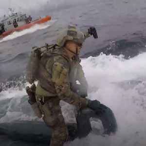 Coast Guard seizes 17,000 pounds of cocaine during dramatic aquatic drug bust [Video]