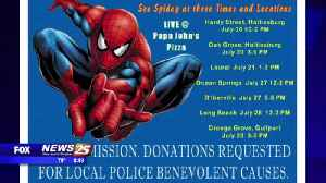 Spider-Man Swings to the Coast to Aid Fundraiser for Family of Late Officer McKeithen [Video]