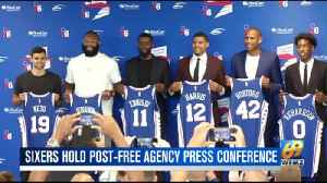 Sixers Introduce New Players, Ennis, Harris [Video]
