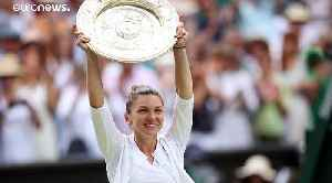 News video: Simona Halep beats Serena Williams to become first Romanian to win Wimbledon tennis singles title