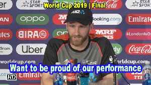 World Cup 2019 | Want to be proud of the performance that we put on board: NZ captain [Video]