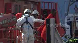 Scores of African migrants rescued from Mediterranean by Spanish coast guard [Video]